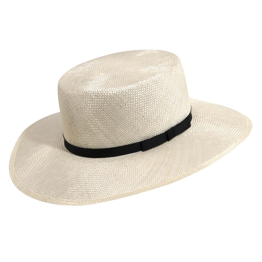 1940s Style Mens Hats Carmen Straw Boater $25.00 AT vintagedancer.com