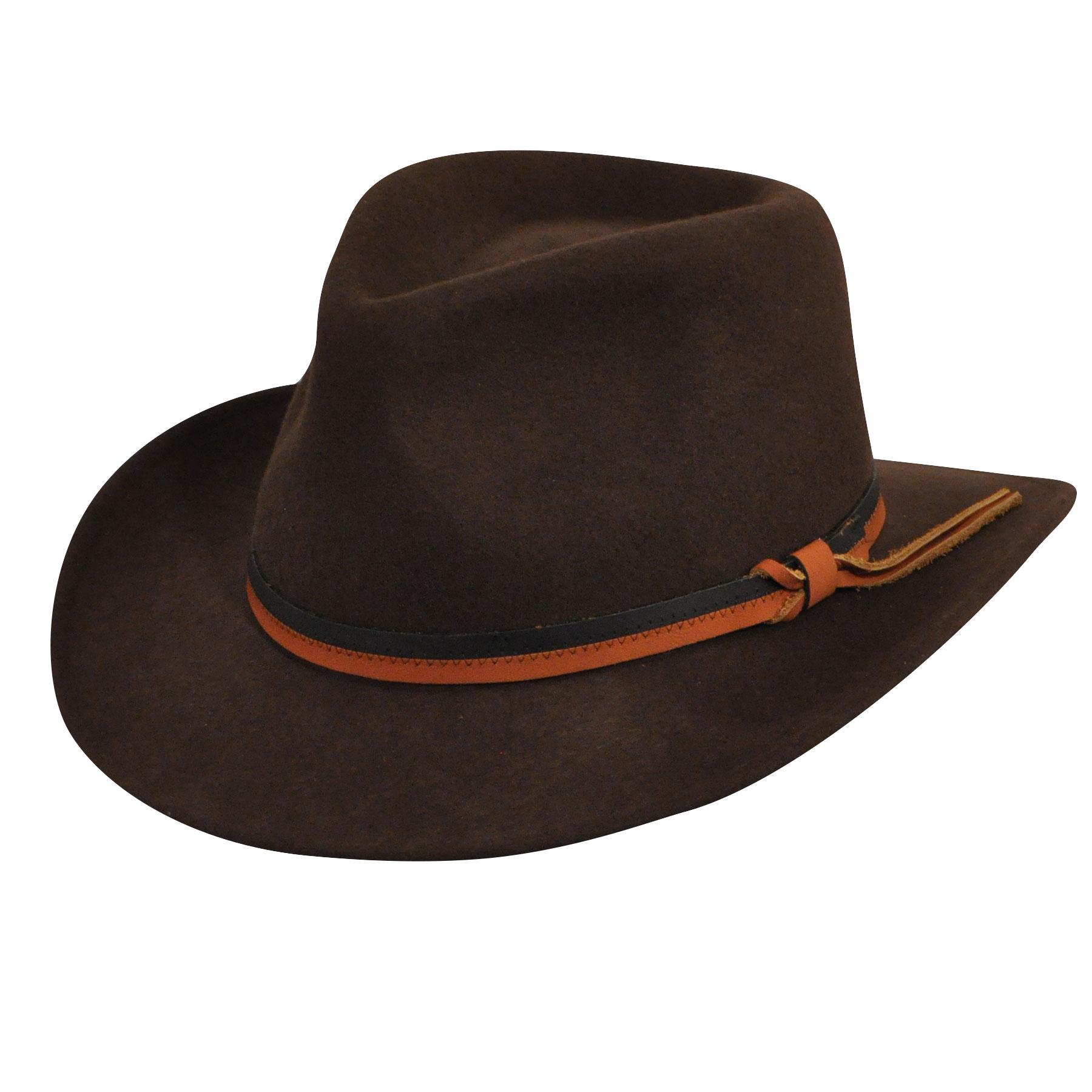 Country Gentleman Felt Outback Hat in Dark Olive