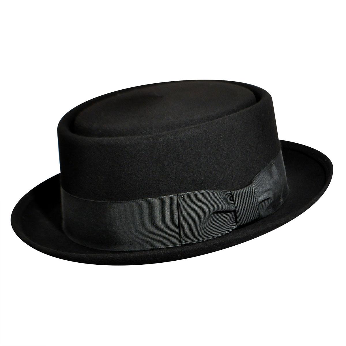 1940s Mens Hat Styles and History Walt Pork Pie $60.00 AT vintagedancer.com