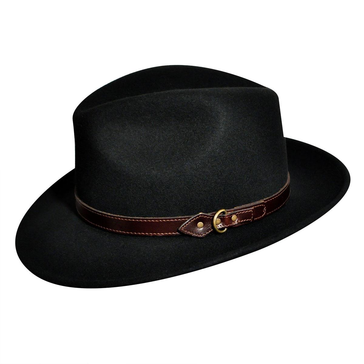 Country Gentleman Dunmore GentleFelt Fedora in Black