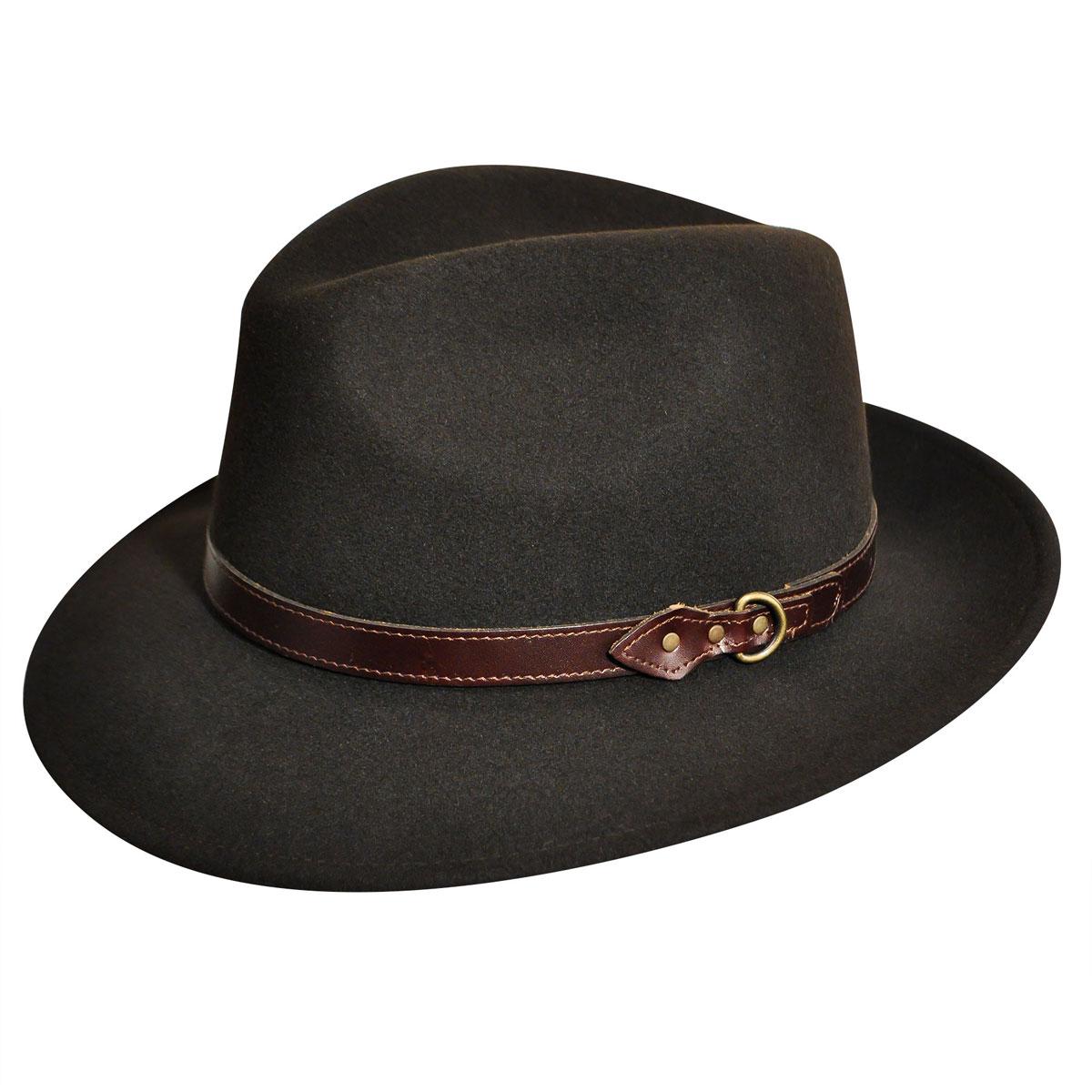 Country Gentleman Dunmore GentleFelt Fedora in Beaver