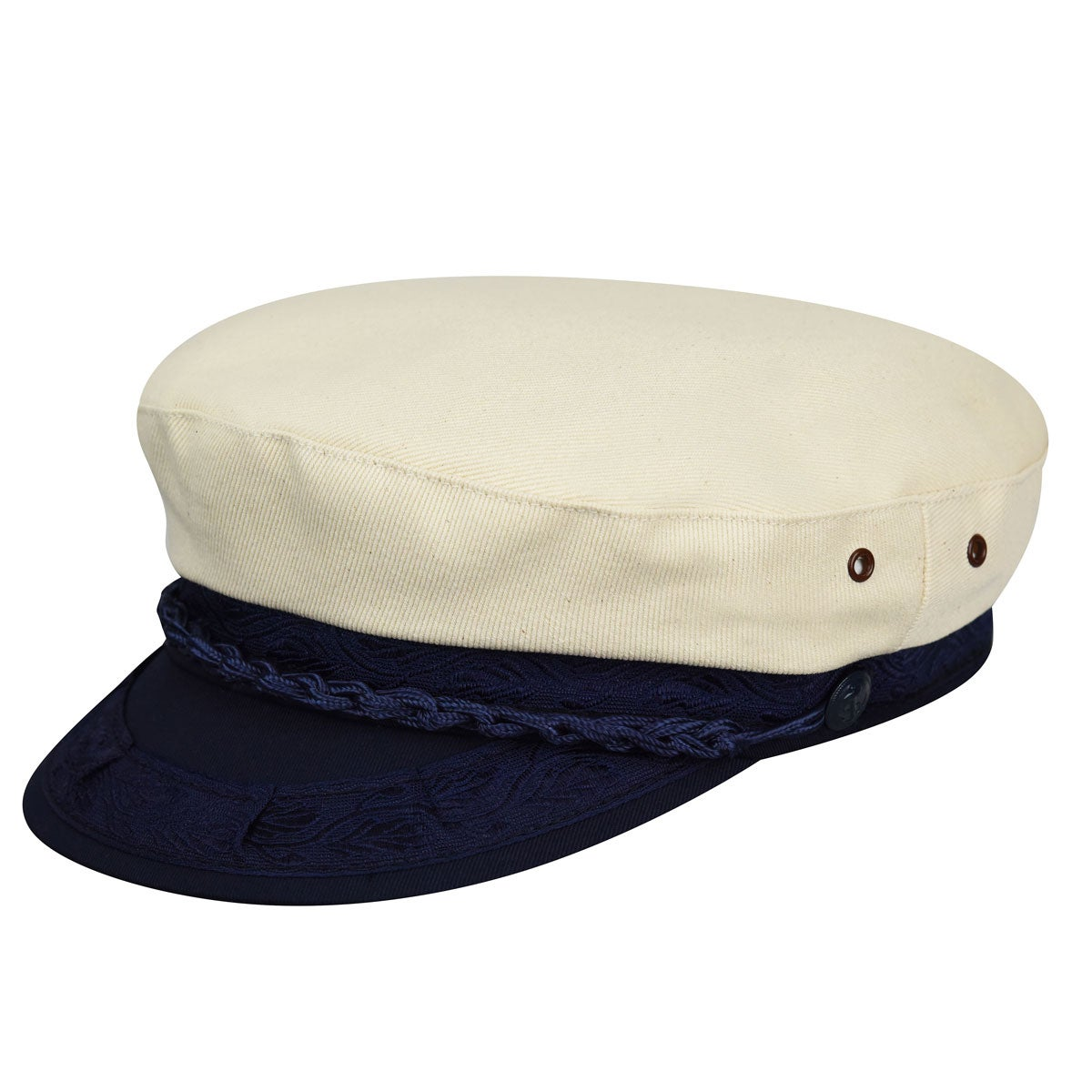 1960s – 70s Style Men's Hats Authentic Greek Canvas Cap $35.00 AT vintagedancer.com