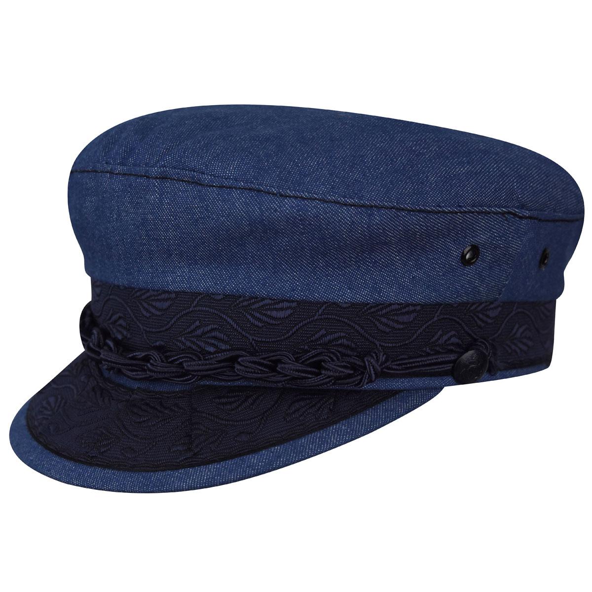 Country Gentleman Authentic Greek Cotton Cap in Denim