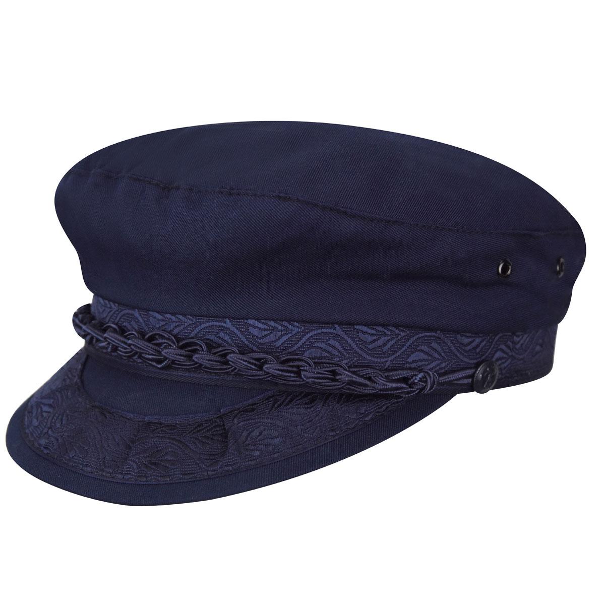 Country Gentleman Authentic Greek Cotton Cap in Navy