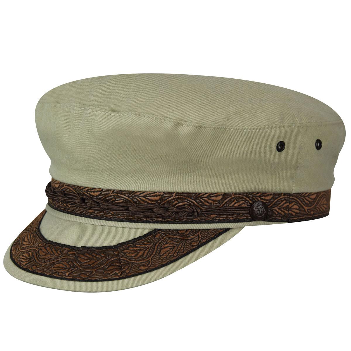 Country Gentleman Authentic Greek Cotton Cap in Tan