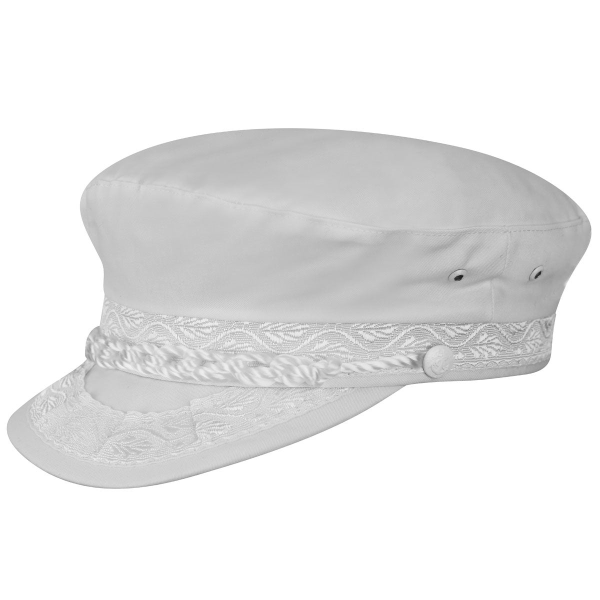 Country Gentleman Authentic Greek Cotton Cap in White