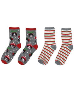 Meowy Holiday 2-pack Socks
