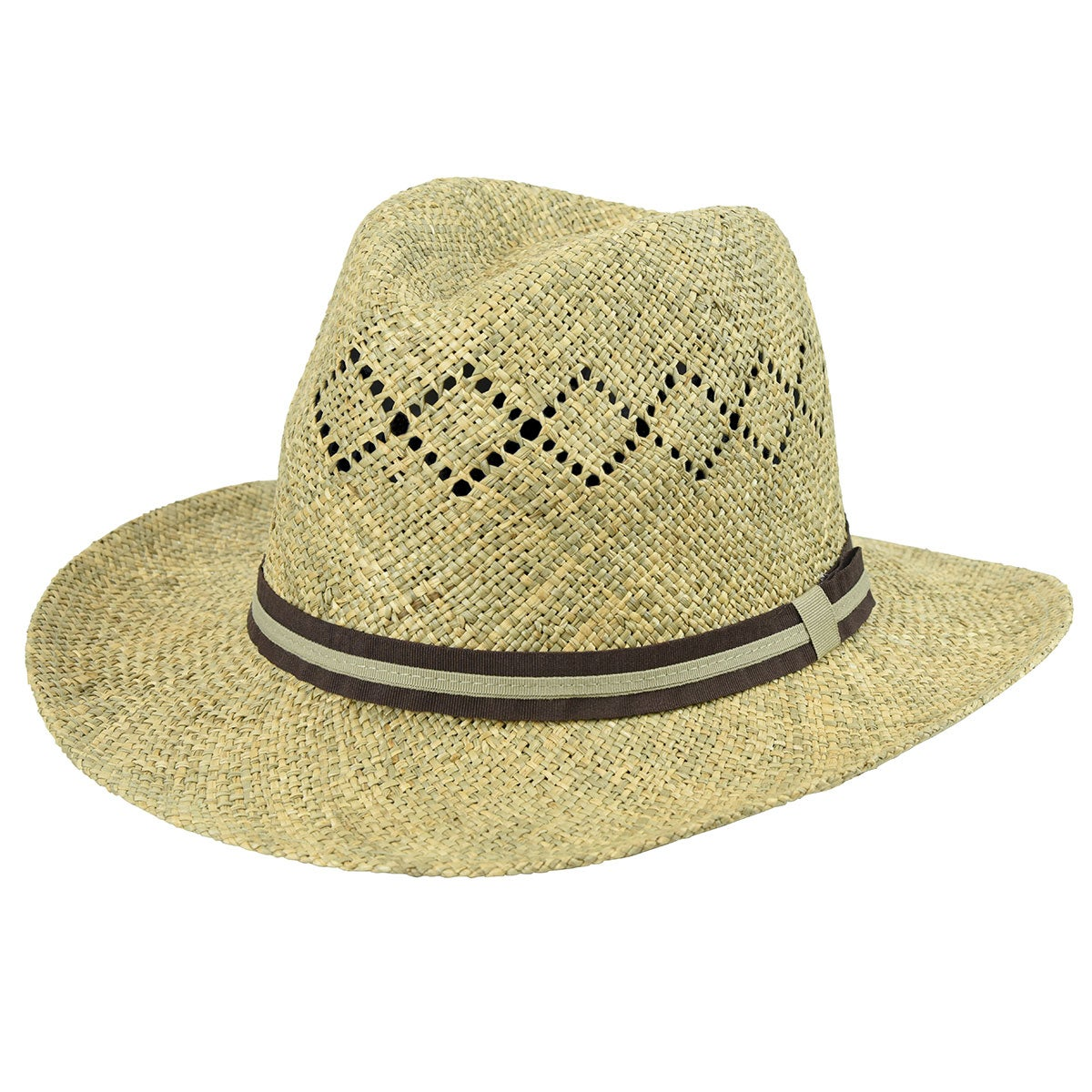 Country Gentleman Vented Linenweave Outback Hat in Natural