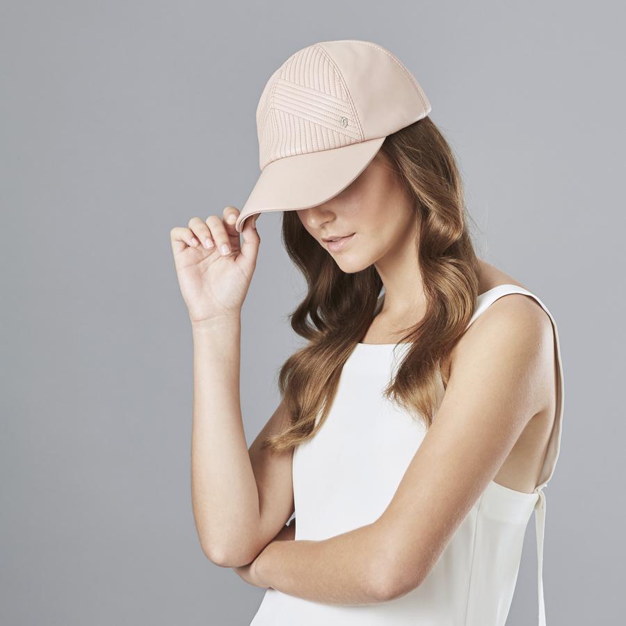 Helen Kaminski Dariela Cap in Blush Pink