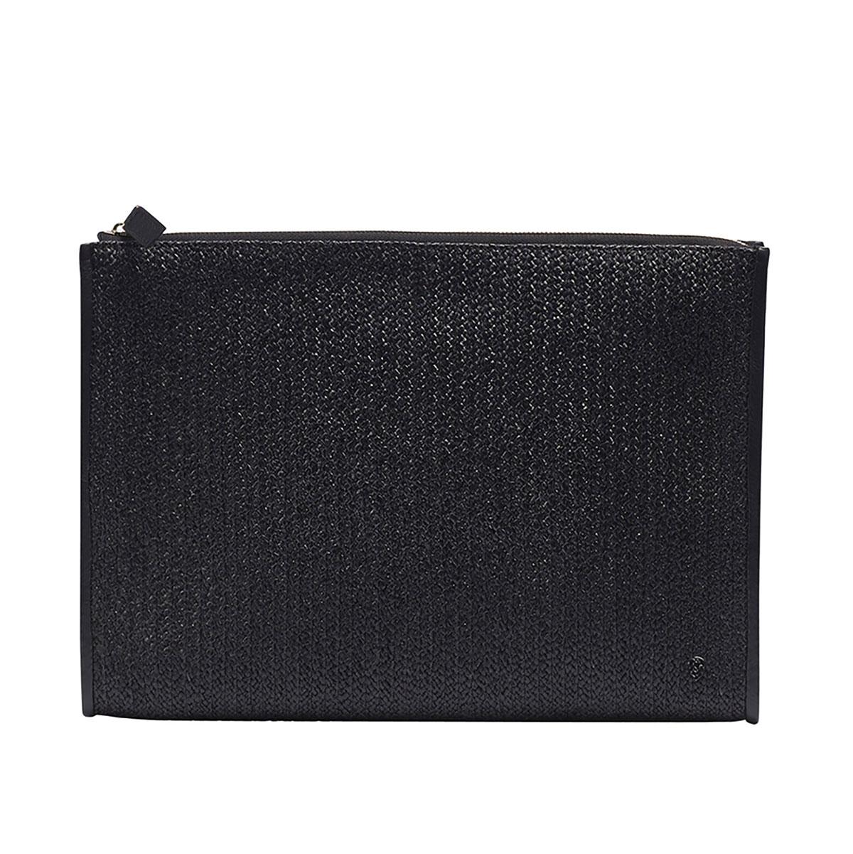 Kaminski Dario Raffia Wallet in Black
