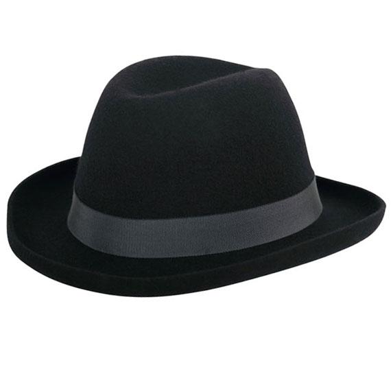 New Edwardian Style Men's Hats 1900-1920 Edward Homburg $190.00 AT vintagedancer.com