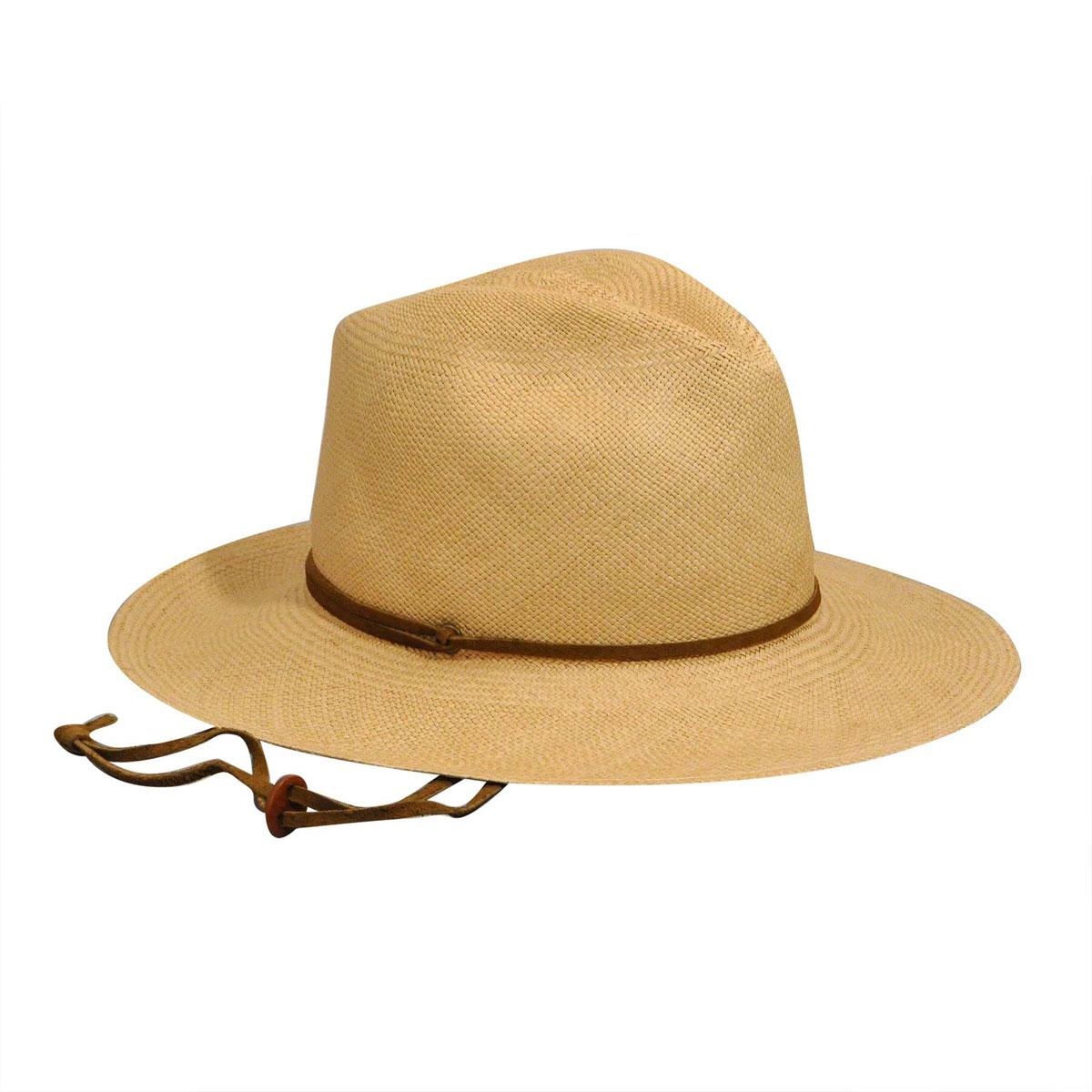 f04f1228f61bc Pantropic Mens Fedora Explorer Straw Wide Brim Hat 750660005111 L ...