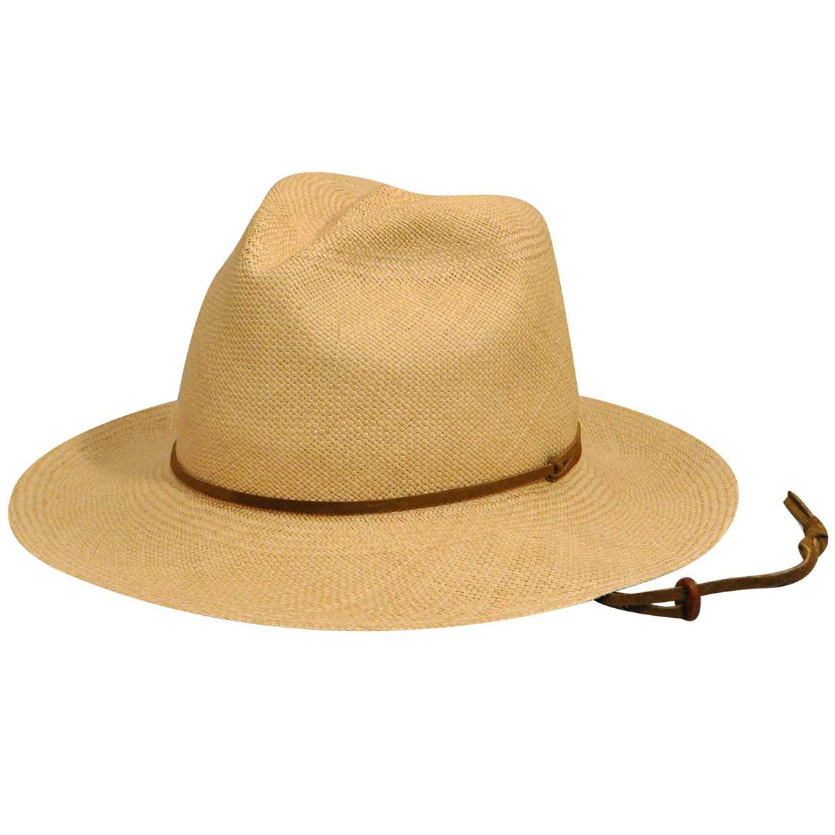 Pantropic Fedora Explorer Straw Hat in Dark Natural