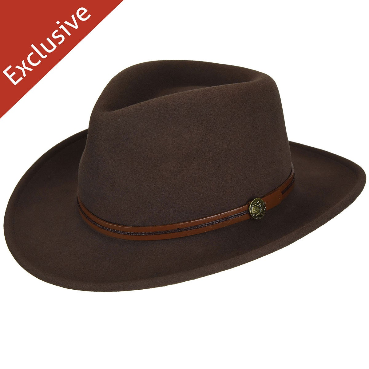 Hats.com Gadabout Outback Hat - Exclusive in Pecan