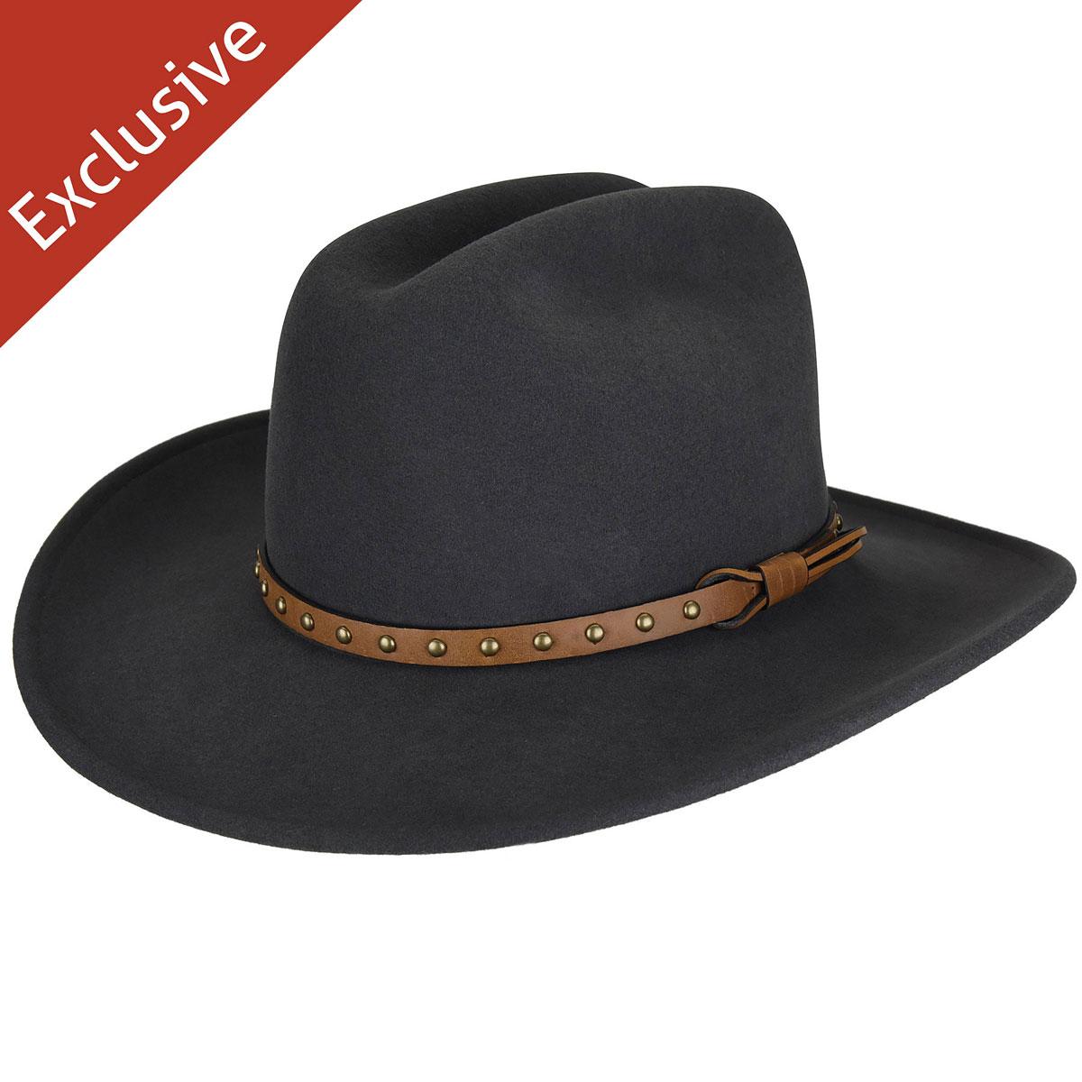 Hats.com Certitude Western Hat - Exclusive in Grey