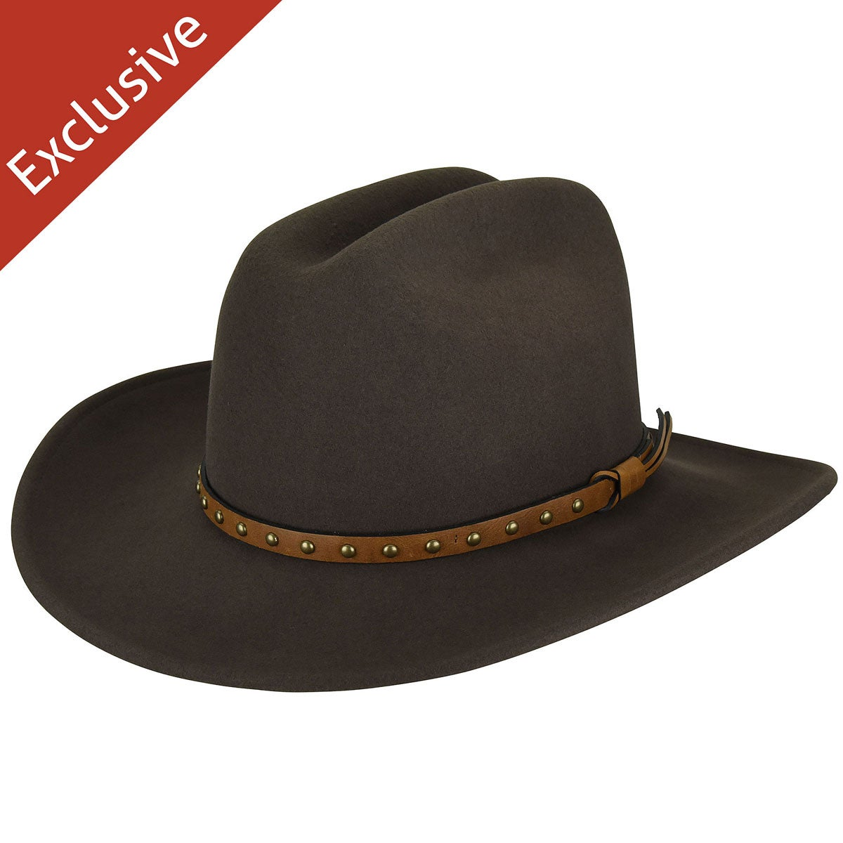 Hats.com Certitude Western Hat - Exclusive in Olive