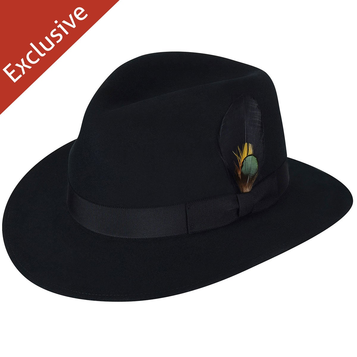 1940s Mens Hats | Fedora, Homburg, Pork Pie Hats Jeff K. Fedora - Exclusive $200.00 AT vintagedancer.com