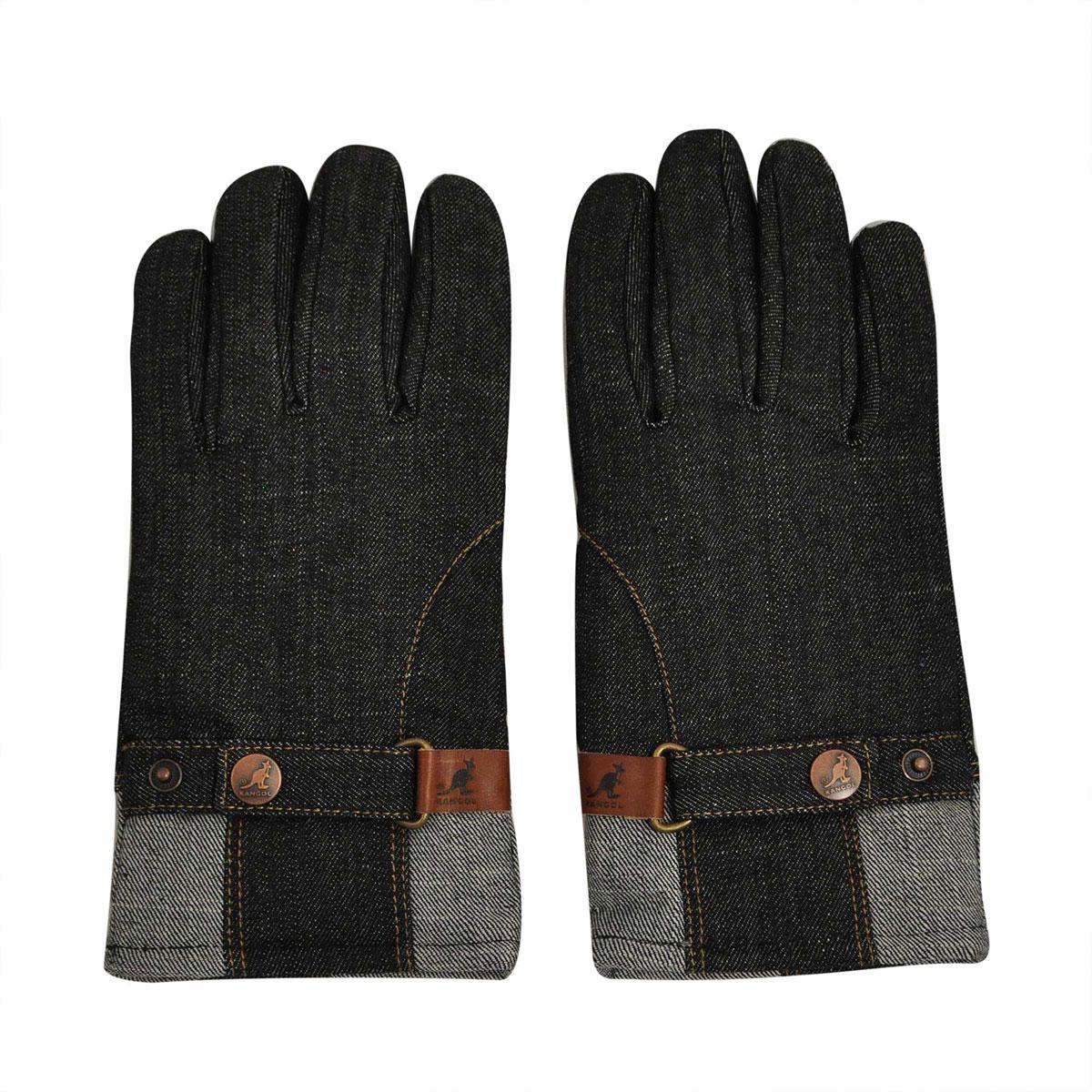 Kangol Belted Denim Glove in Denim