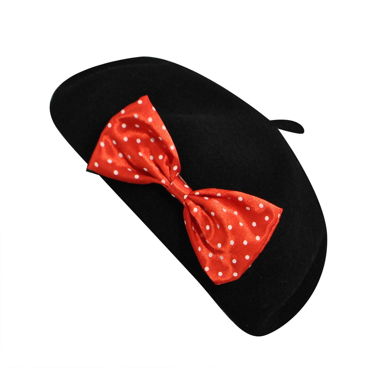1950s Women's Hat Styles & History Kangol For Disney Female Disney Anglobasque Beret With Detachable Bows $58.00 AT vintagedancer.com