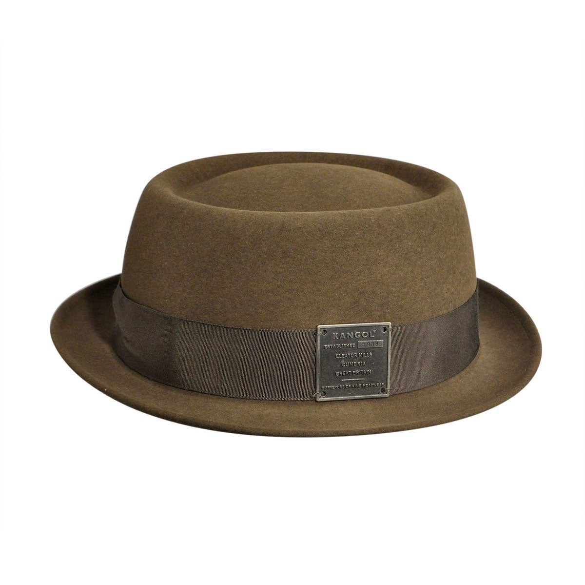 1930s Mens Hat Fashion Linotype Pork Pie $130.00 AT vintagedancer.com