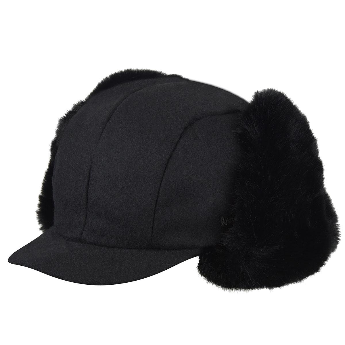 Kangol Wool Aviator in Black,Black