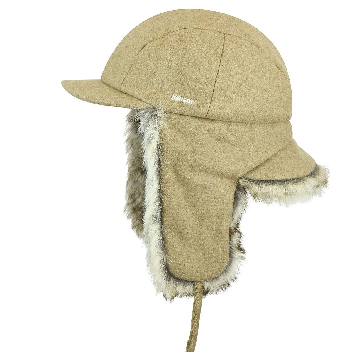 Kangol Wool Aviator in Camel
