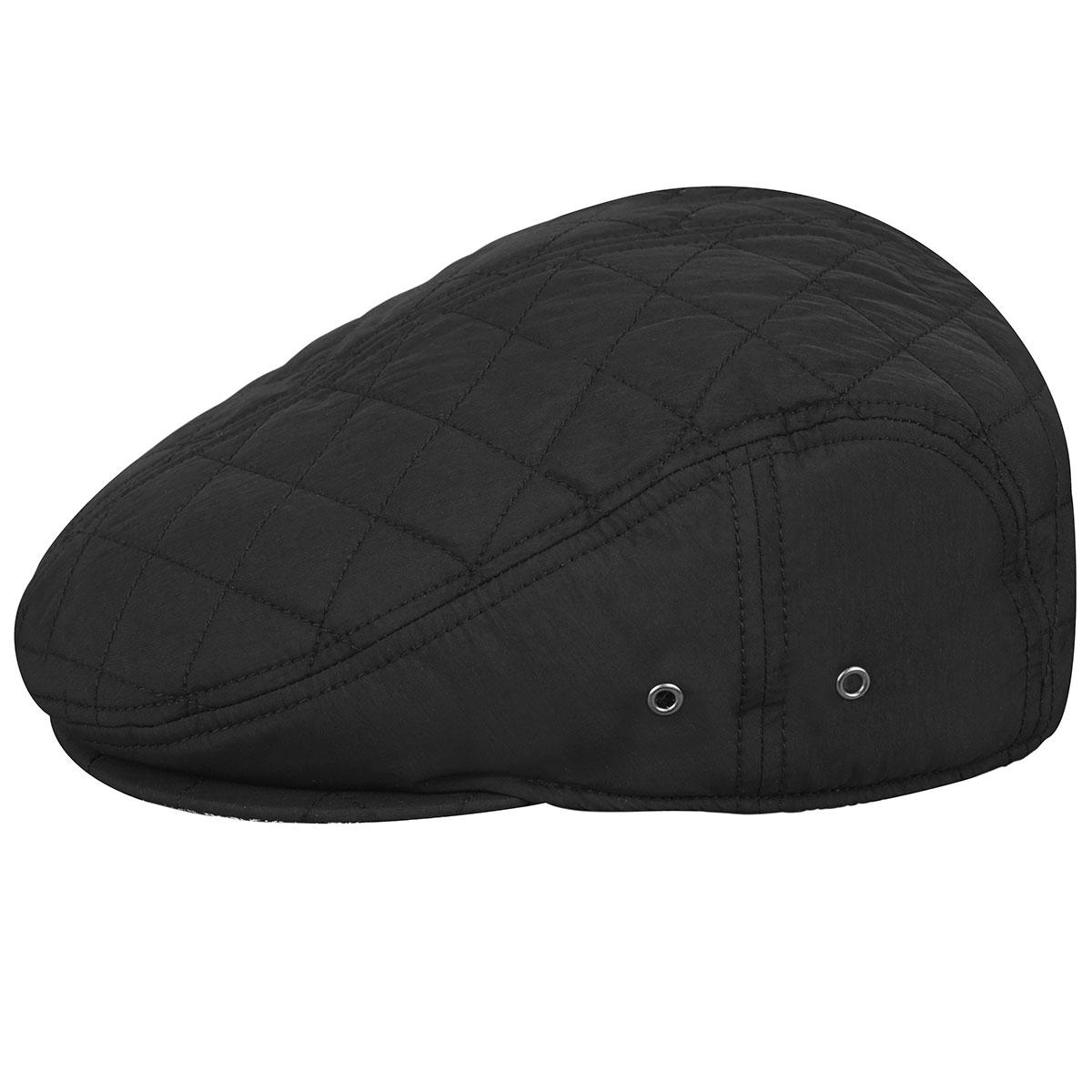Kangol Hidden Layers Driving Cap in Black