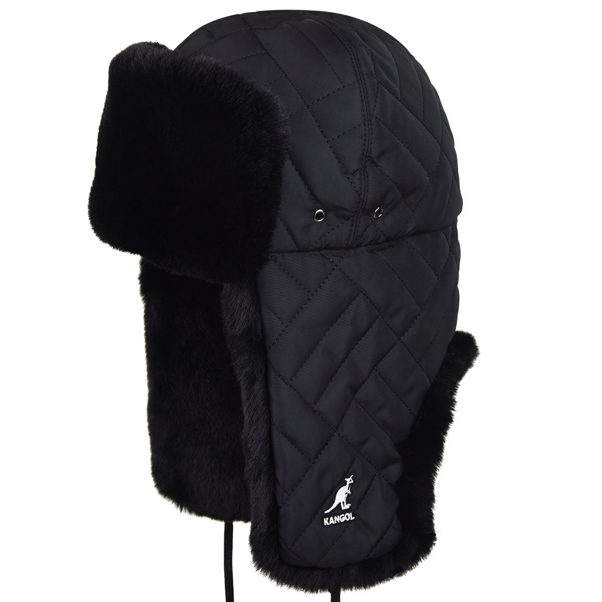 Kangol Quilted Trapper in Black
