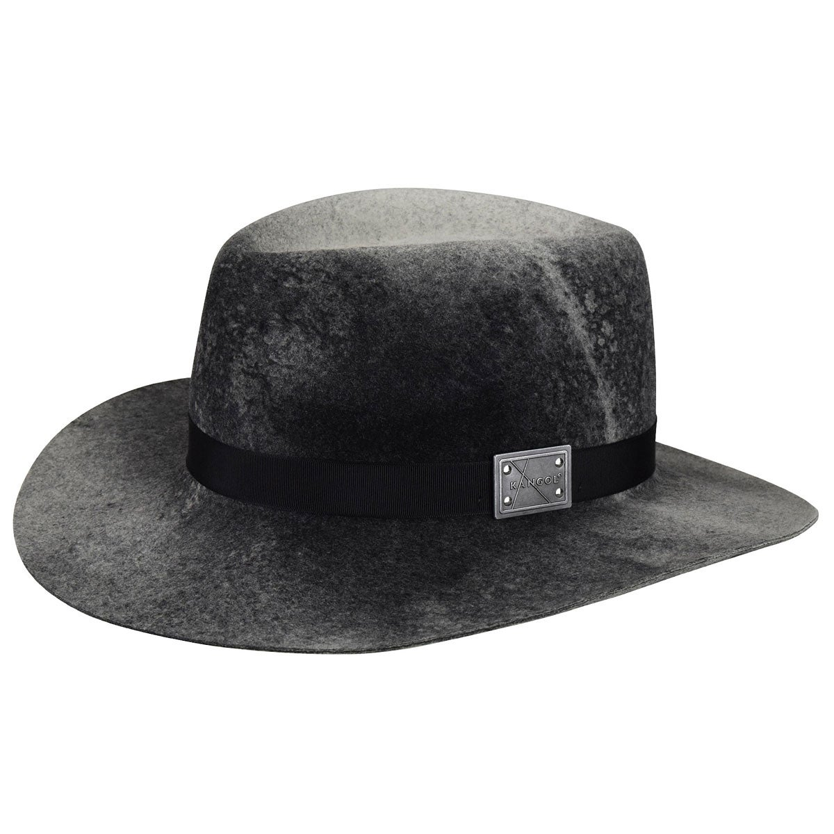 Kangol Aged Barclay Trilby in Black