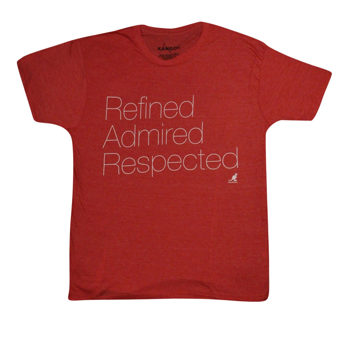 Kangol Words Tee in Red Heather