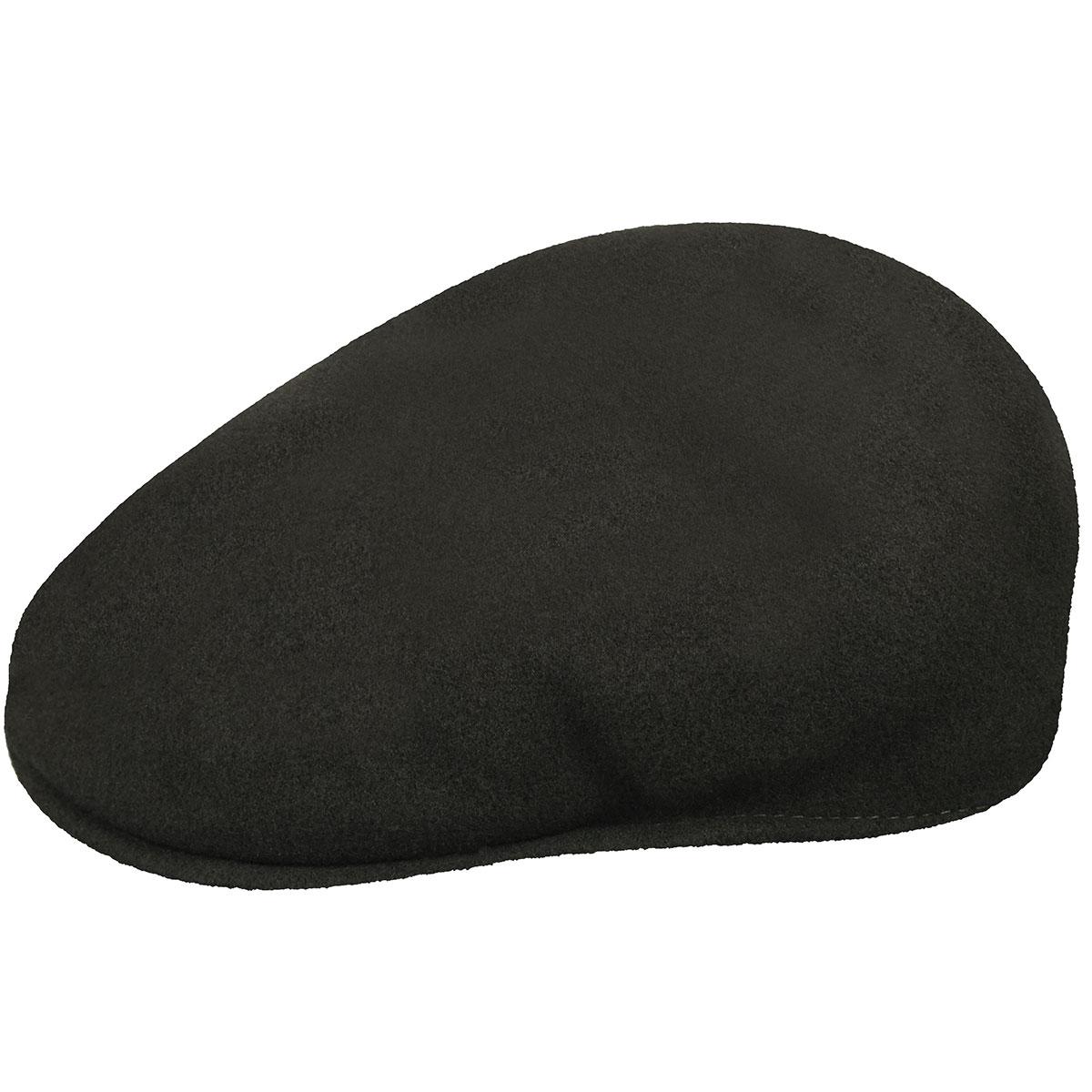 Kangol 504 Classic Wool Black Flatcap Cap 100/% Wool Men/'s Cap
