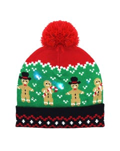 Gingerbread Man Novelty Holiday Beanie