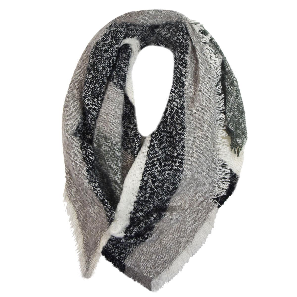 Capelli / GMA Accessories Black Multi Boucle Blanket Scarf in Black Combo
