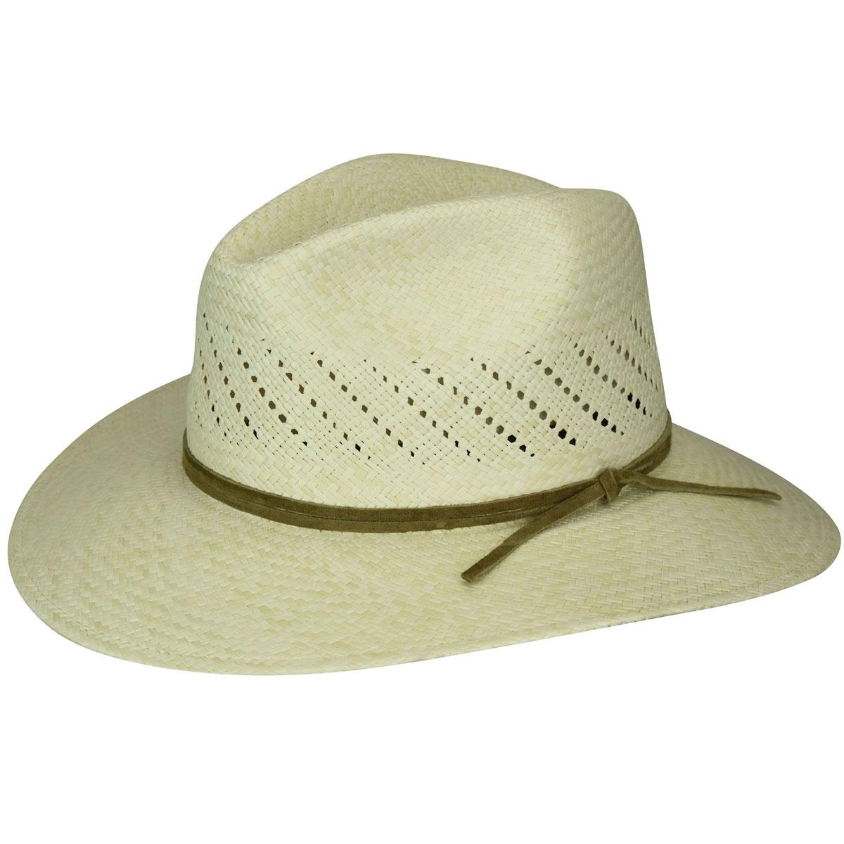 1950's Mens Hats Tucson Panama Straw Fedora $95.00 AT vintagedancer.com