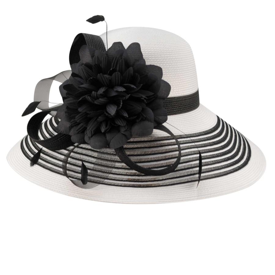 Betmar Lanna Hat in White,Black