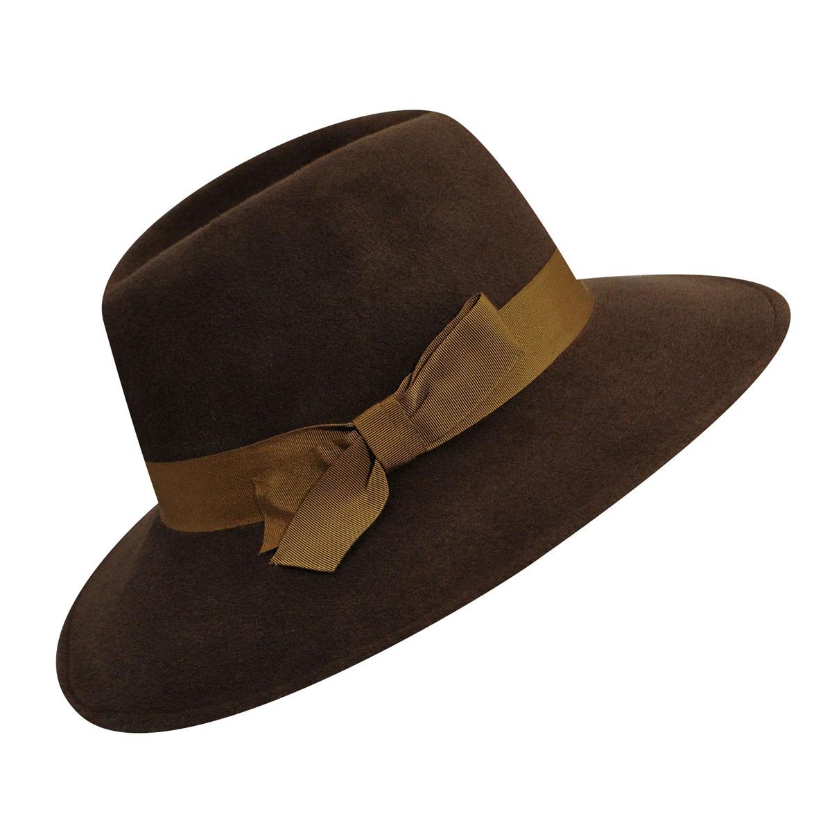 1940s Style Hats Roxanne Trilby $295.00 AT vintagedancer.com