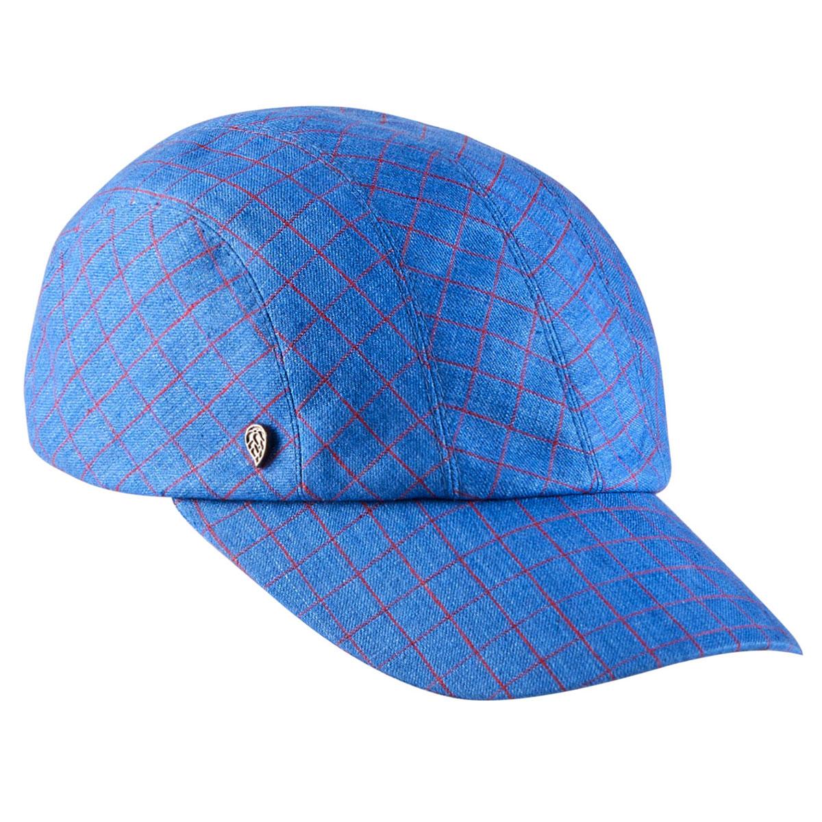 Kaminski Sawyer Baseball Cap in Blue Check
