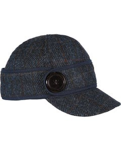 Harris Tweed Button Up Cap