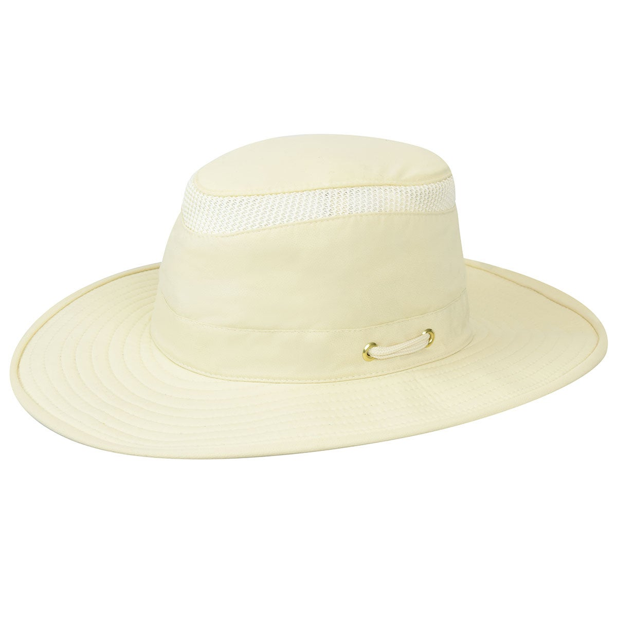 Tilley Airflo Lightweight Broad Brim Outback in Natural,Green