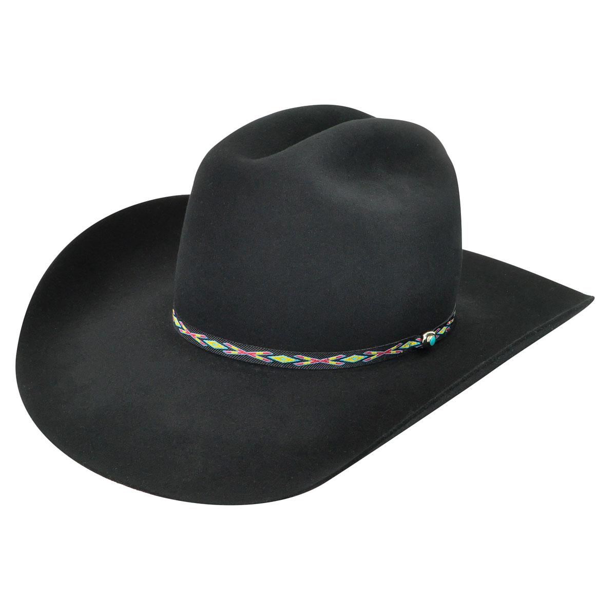 Bailey Western Bridger 3X Western Hat in Black