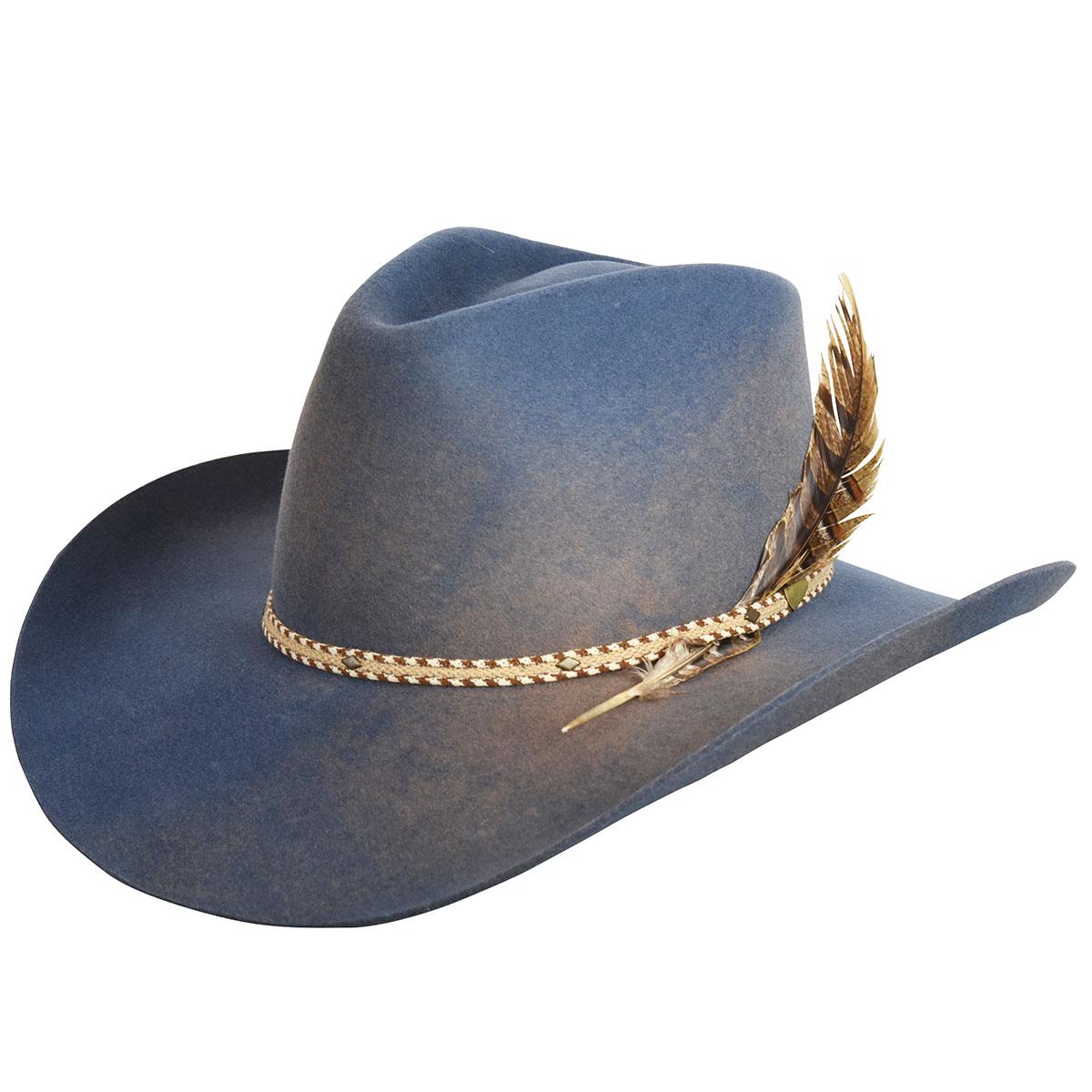 Renegade Renegade by Bailey Lucius Western Hat in New Slate,Mole Swirl