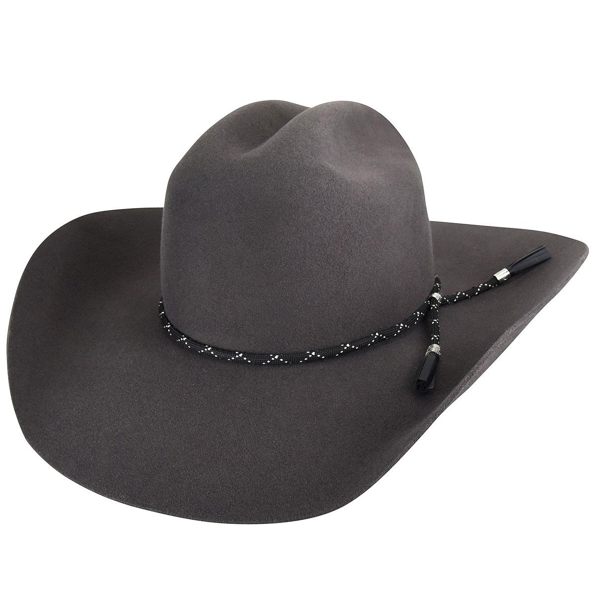 Bailey Western Zippo 2X Western Hat in Steel