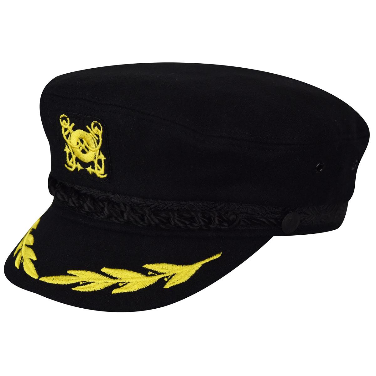 Women's Vintage Hats | Old Fashioned Hats | Retro Hats Wool Captain Cap $38.00 AT vintagedancer.com
