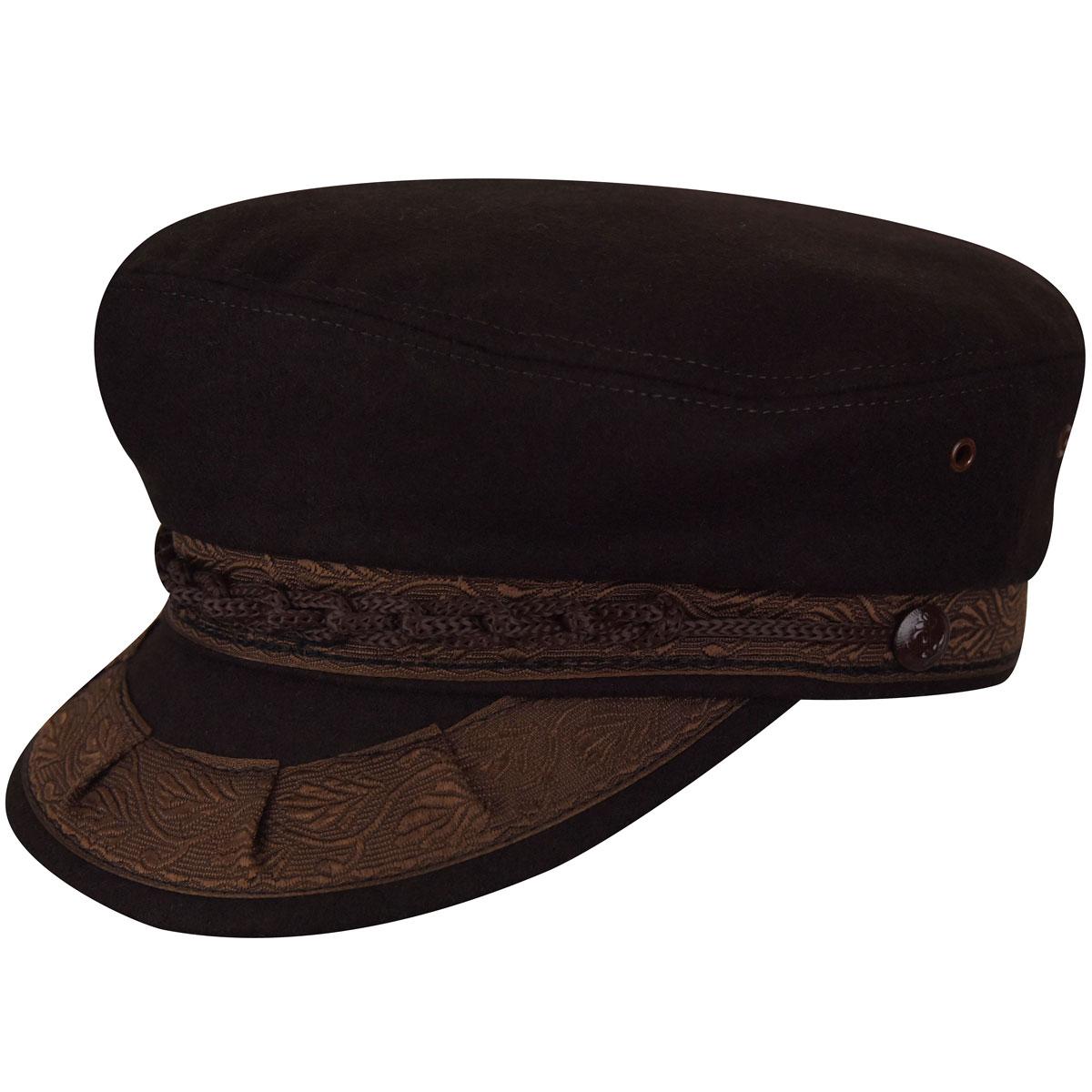 Country Gentleman Authentic Greek Wool Cap in Brown