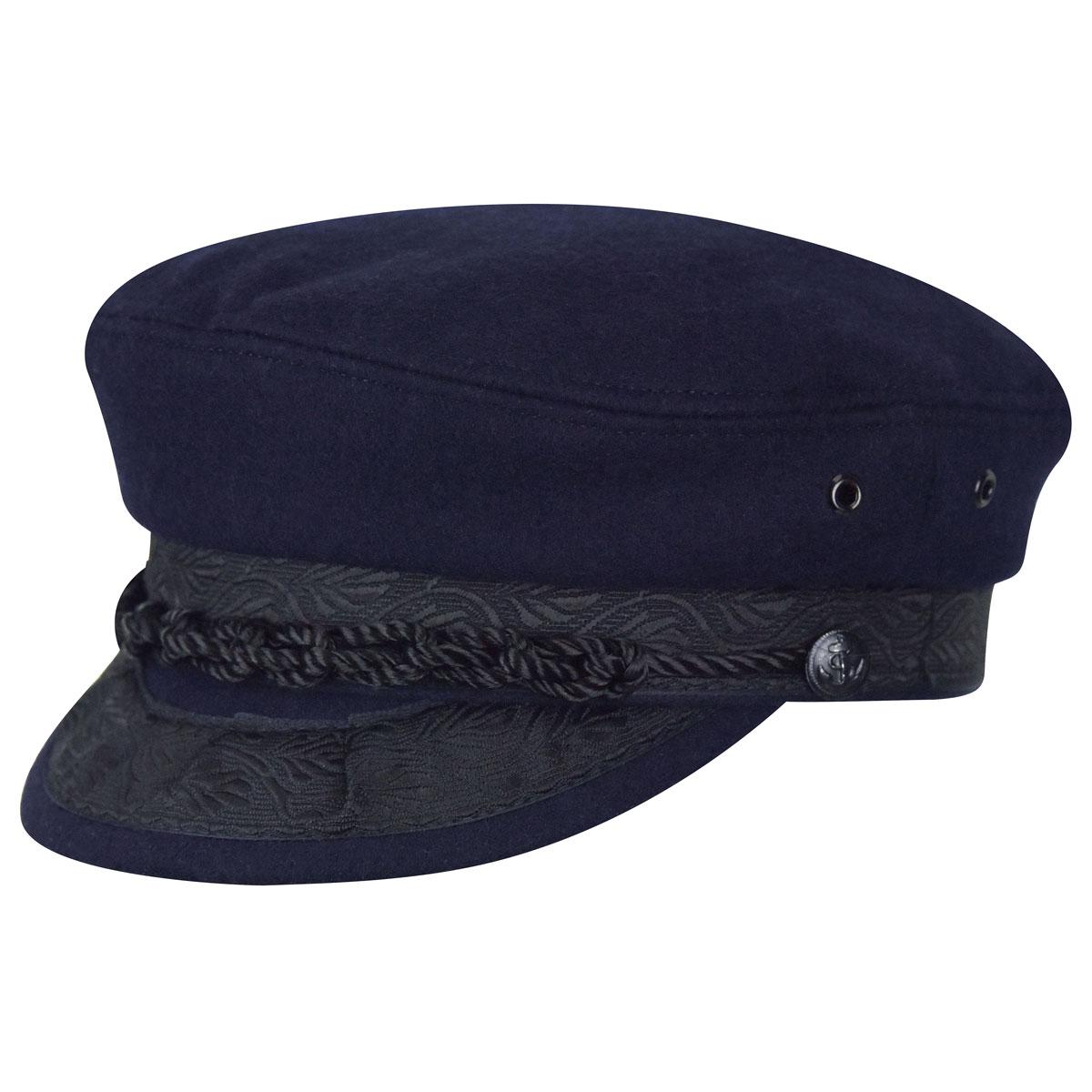 Country Gentleman Authentic Greek Wool Cap in Navy