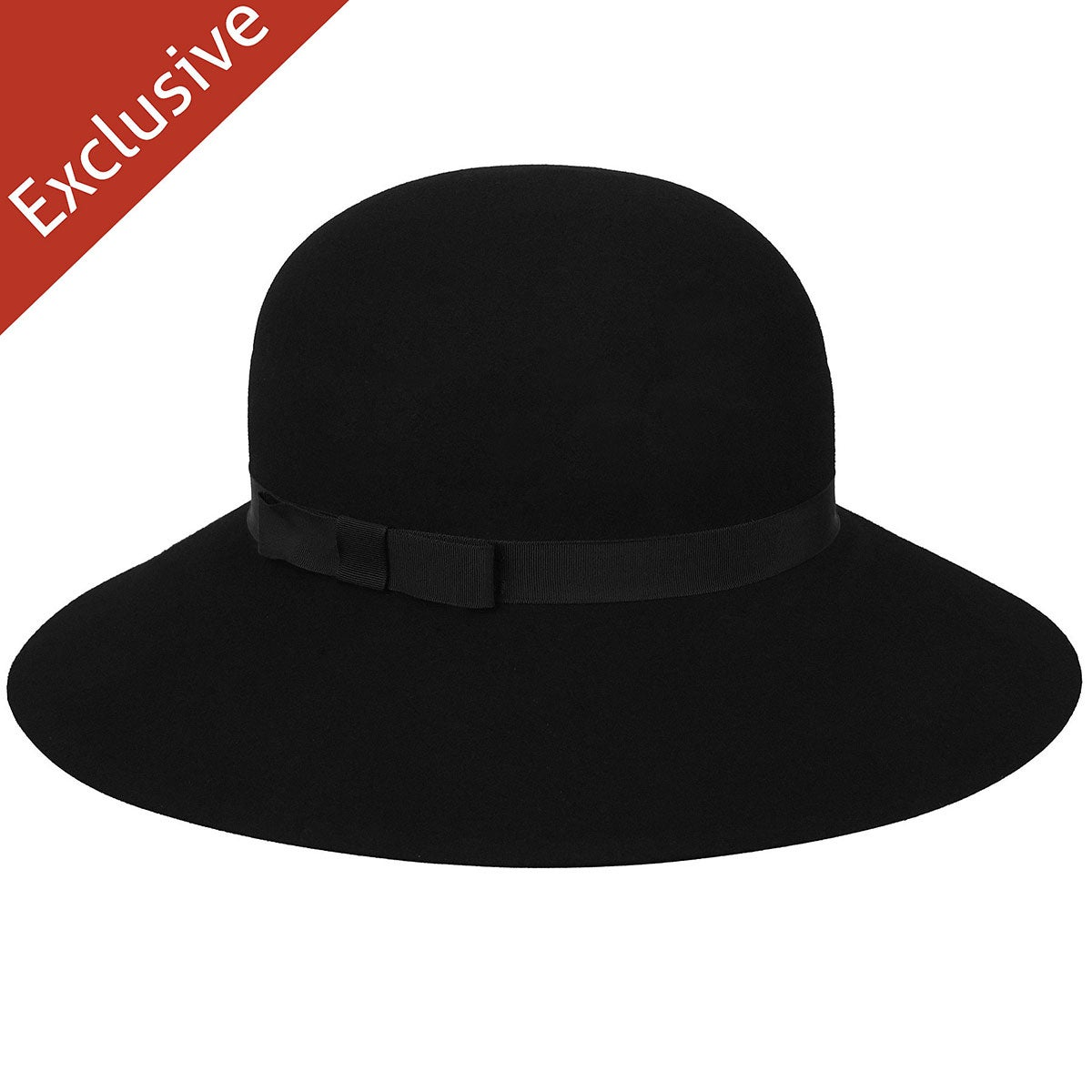 Hats.com Abby Wide Brim Hat in Black