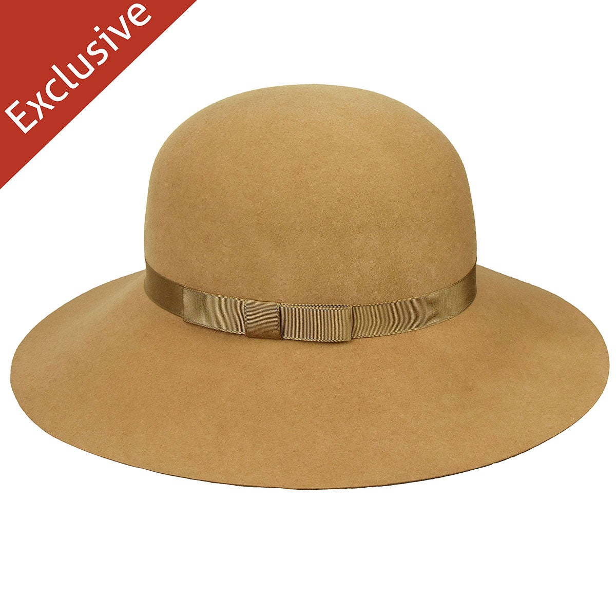 Hats.com Abby Wide Brim Hat in Camel