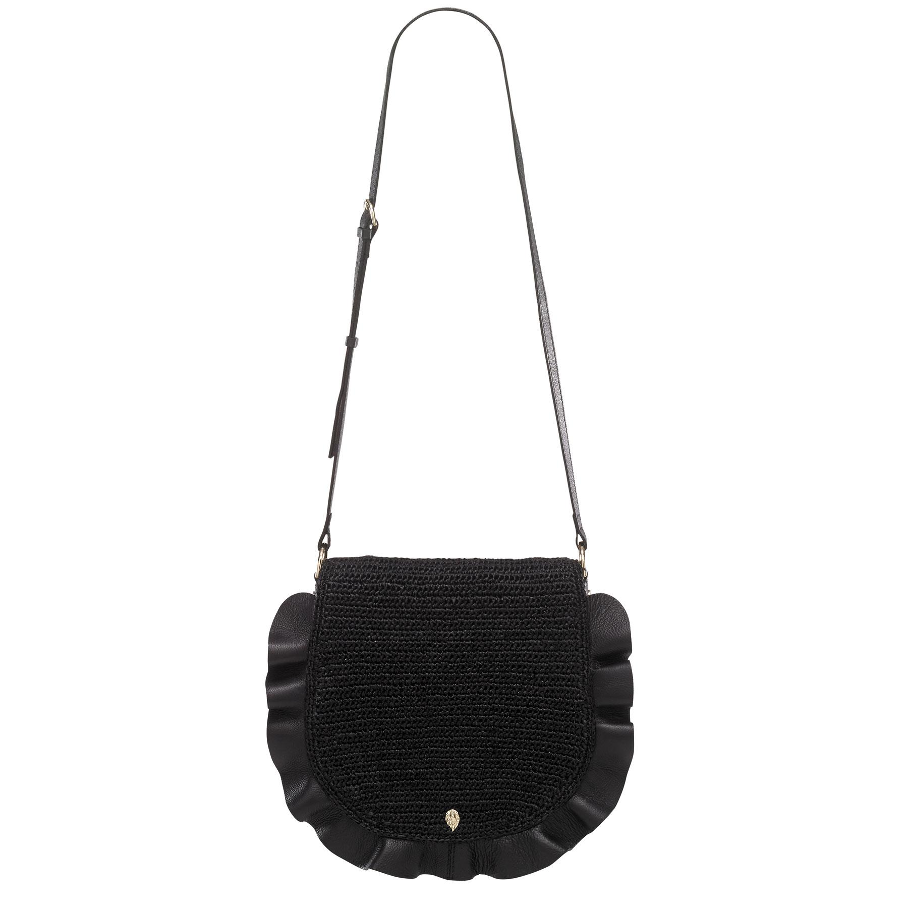 Helen Kaminski Andalusia Saddle Bag in Charcoal,Black