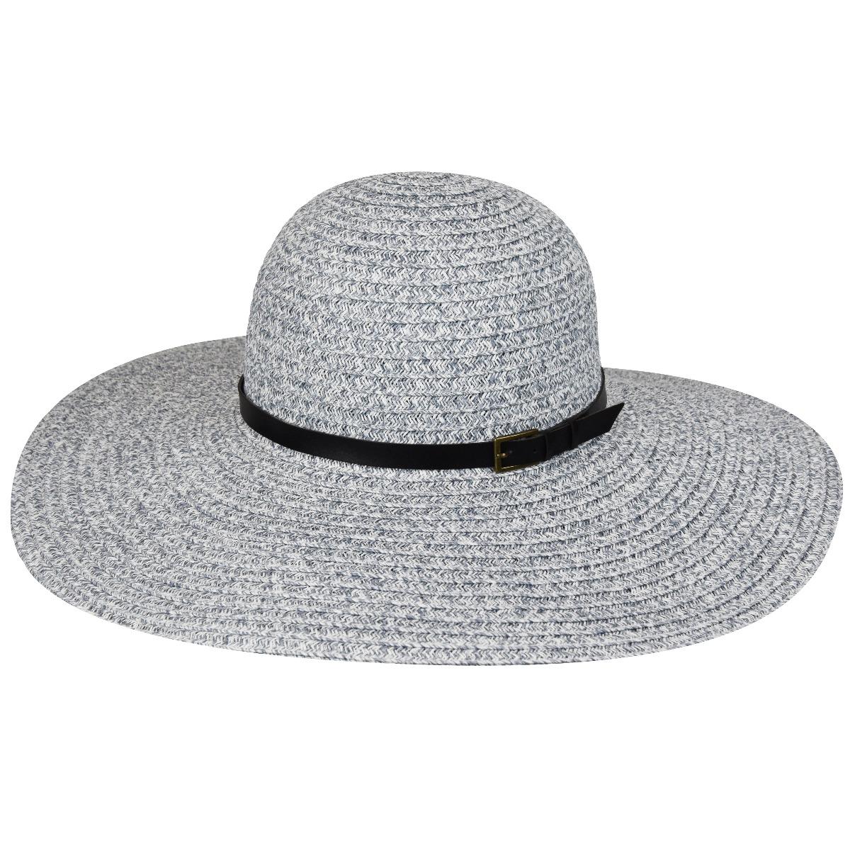 Betmar Ramona Braid Floppy Hat in Light Grey Multi
