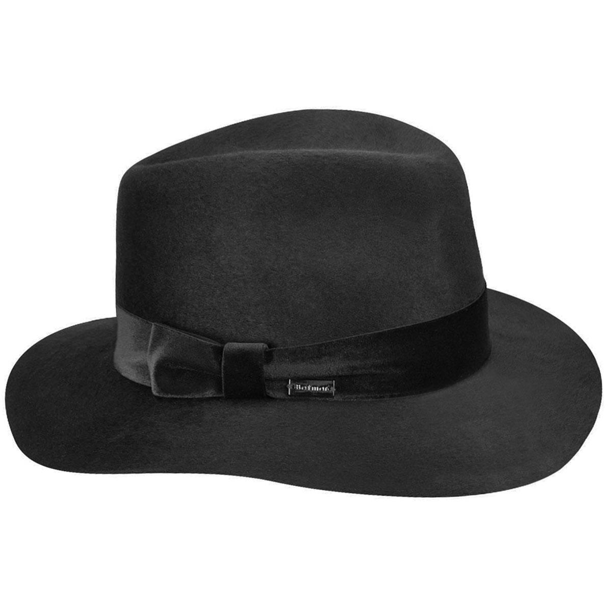 1950s Hats: Pillbox, Fascinator, Wedding, Sun Hats Izette II Wide Brim Fedora $115.00 AT vintagedancer.com